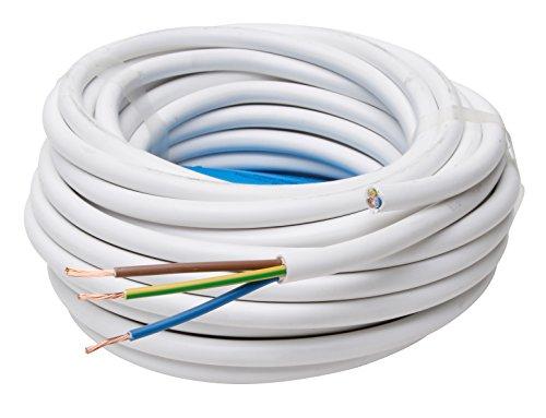 Kopp 151825002 Schlauchleitung H05 VV-F 3G, 1.5 mm², 25 m, weiß