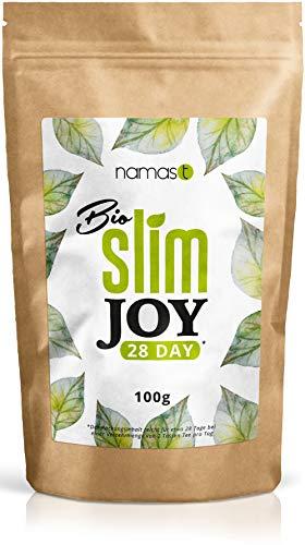 28 Tage Bio Slim Joy Tee - loser Kräutertee - Grüner Tee, Mate, Melisse, Brennnessel, Ingwer, Löwenzahn, u.v.m. - hergestellt in Deutschland - 100g