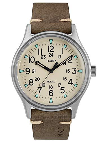 Timex Herren Analog Quarz Uhr mit Leder Armband TW2R96800