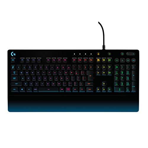 Logicool G ゲーミングキーボード G213 ブラック メンブレンキーボード 静音 日本語配列 RGB パームレスト ...