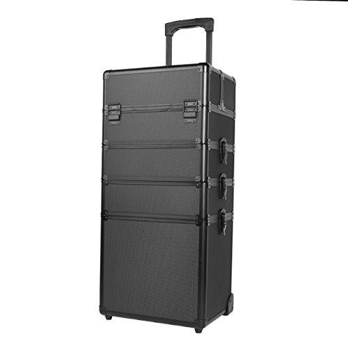 Paneltech 4 in 1 grande trucco bellezza Rolling Case Organizer Cosmetici Parrucchiere Lockable...