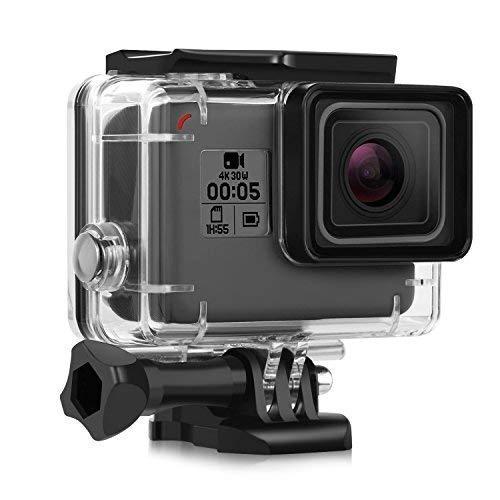 iTrunk Custodia Protettiva Impermeabile per GoPro Hero 7 Hero 2018 Hero 6 Hero 5 Black Action Camera, con Supporto Tripode e Vite di Fissaggio