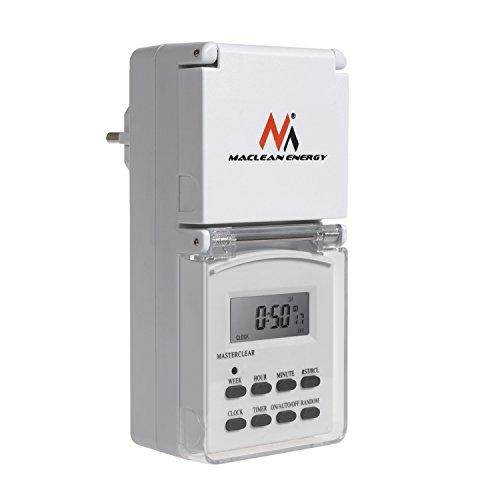 Maclean Energy MCE08G - Temporizador Digital Externo, hasta 156...