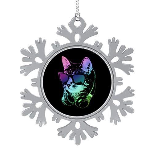 Bedkagd, cuffie per DJ Cat in lega, decorazioni natalizie, decorazioni natalizie, decorazioni personalizzate.