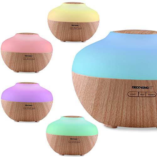 DecoKing Aroma Diffuser 300 ml Duftöldiffusor Timer Luftbefeuchter Vernebler Elektrische Duftlampe Diffusor Aromatherapie Bao