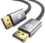 Silkland Cable DisplayPort 144Hz/2m, Admite 4K@60Hz, 2K@144Hz, 2K@165Hz, 3D, Compatible con FreeSync y G-Sync, Cable DisplayPort para 144Hz Monitor, 4K UHD TV, Pantalla y Tarjeta Gráfica para Juegos