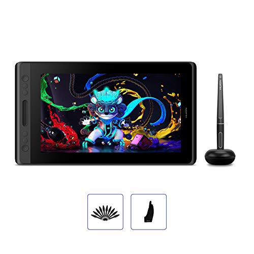 HUION KAMVAS Pro 12 GT-116 Digital Drawing Tablet with Screen Full Laminated Graphics Display with Battery-Free Stylus 8192 Pen Pressure Tilt Touch Bar-11.6inch