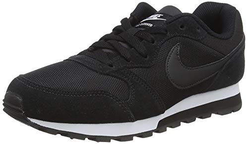 Nike MD Runner 2, Zapatillas de Running Mujer, Negro (Black / Black-White), 40