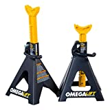 Omega Lift Heavy Duty 6 Ton Jack Stands Pair - Double Locking Pins - Handle Lock and Mobility Pin...