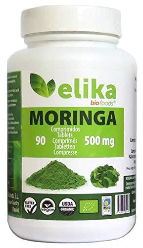 Moringa Oleifera orgánica 90 comprimidos 500 mg / ecológica / bio / para adelgazarl/ antioxidante/ antienvejecimiento / vitamina C / minerales.
