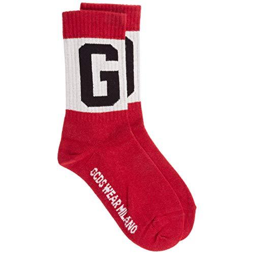 GCDS Logo calzini corti uomo red