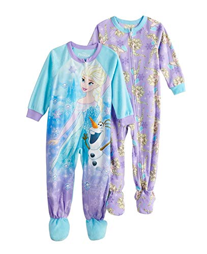 Disney's Frozen Elsa & Olaf 2-Pack Footed Pajamas Toddler Girls