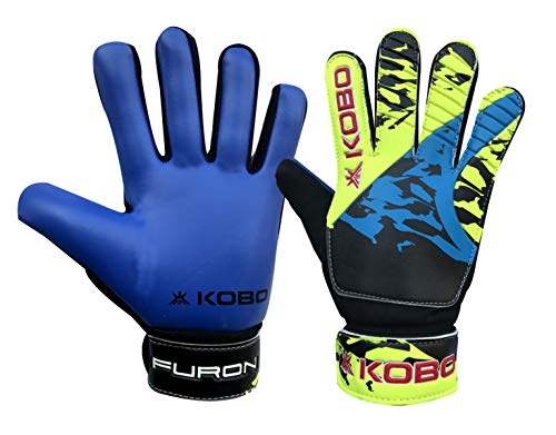 Kobo Furon 6.5 Latex Football Goal Keeper Gloves (Blue)