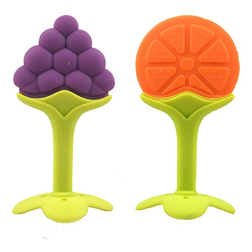 Teether Silicone Baby Teether/Pacifier Fruit Shape Baby Toys Infants Dental Care (Combo Saver Pack...