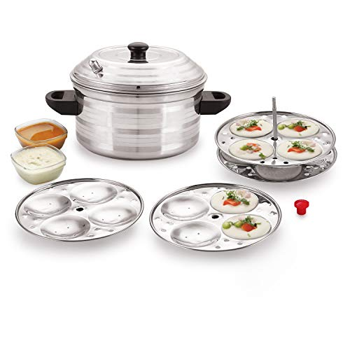 BMS LIFESTYLE Stainless Steel 4-Plates Idly Cooker, Induction & Gas Stove Compatible Idli Maker...