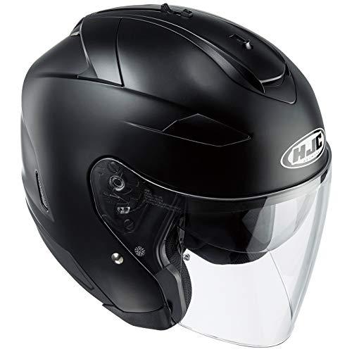 HJC(エイチジェイシー)バイクヘルメット ジェット セミフラットブラック (サイズ:S) IS-33 2ソリッド HJH120