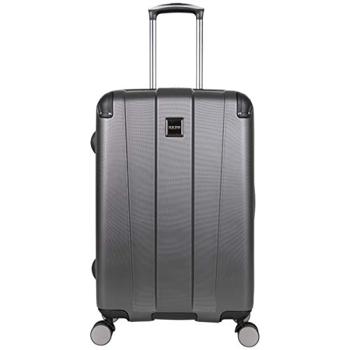 Kenneth Cole Reaction Continuum Hardside 8-Wheel Expandable Upright Spinner Luggage, Charcoal, 24-inch Check Only
