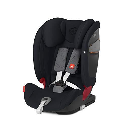 GB GOLD Everna-Fix Seggiolino Auto per Bambini, per Auto con Isofix, Gruppo 1/2/3, 9-36 kg, dai 9 Mesi ai 12 Anni, Velvet Black