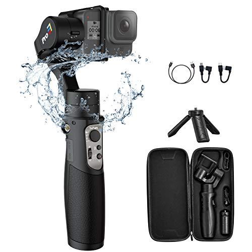 Hohem iSteady Pro 3 Gimbal per Gopro Hero 8, Stabilizzatore per Gopro,Compatibile per Fotocamera GoPro 8 7 6 5 4 3, DJI Osmo, Sony RX0, Yi Cam 4K, SJCAM, Splash Proof, Controllo WiFi, 12 Ore di Lavoro