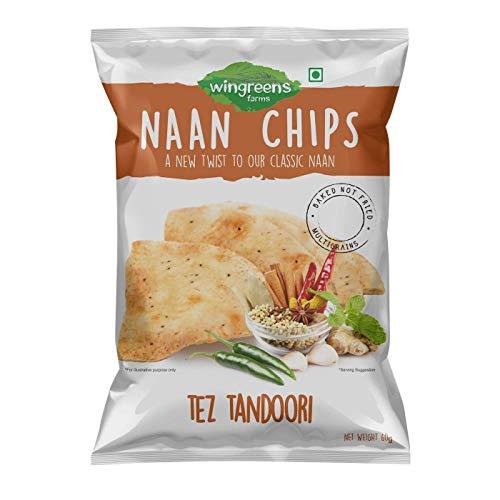 Wingreens Farms Tez Tandoori Naan Chips, 60g