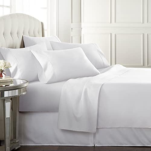 Danjor Linens Bed Sheets Set (QUEEN) - 1800 Series, 6 Piece Set w/ Deep Pockets
