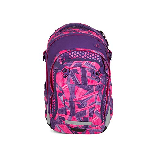 satch Match, Candy Lazer ergonomischer Schulrucksack, erweiterbar auf 35 Liter, extra Fronttasche