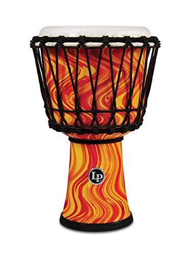 Latin Percussion Djembe Orange Marble 7-inch Diameter LP1607OM