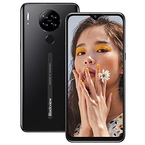 Smartphone Libre 4G, Blackview A80 6.21' HD+ Pantalla con Cámara Cuádruple 13MP, 16GB ROM, 128GB SD Batería 4200mAh Android 10 GO Teléfono Móvil Barato Dual SIM - Huella...