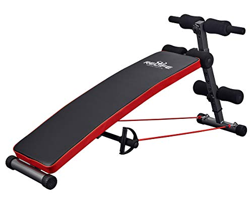 Sit Up Bench Adjustable Workout Foldable Bench Fitness Equipment for...