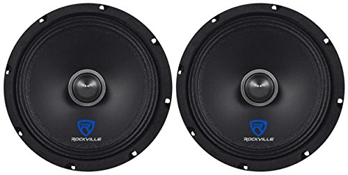 (2) Rockville RXM88 8' 500w 8 Ohm Mid-Range Drivers Speakers, Made w/Kevlar Cone