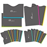 Aerb RFID Blocking Sleeves, Set of 16 (12 Credit Card Holders & 4 Passport Protectors) for Identity...