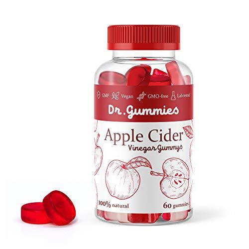 Apple Cider Vinegar Gummies with Mother - All Natural, GMO-Free, Vegan Apple Cider Vinegar Capsules for Increased Energy, Weight Management, Improved Digestion, Detox & More- 60 ACV DR. Gummies 1