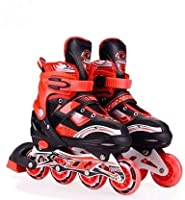 ★Stunt ability :- BEST KIDS VALUE INLINE SKATE FOR ANY LEVEL Value driven, Kids adjustable skate with great features to prove spending less does not always mean getting less. This activity will help kids to build strong bones, joints and muscles. Kid...