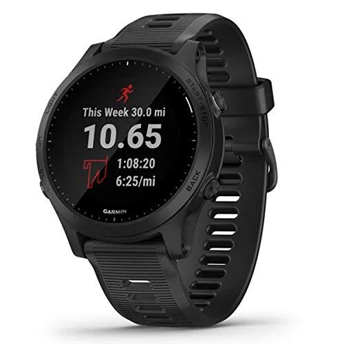 Garmin GPS Reloj/ELVTE.Garmin FR945 Mano Ciclismo Unisex Adulto, Negro(Negro), Talla Única