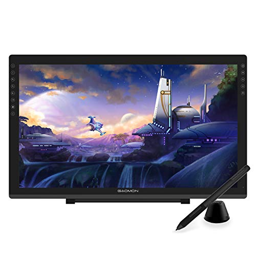 GAOMON PD2200 Full-Laminated Tilt-Support 92% NTSC Pen Display with 8 Touch Buttons -21.5 Inch HD Drawing Monitor with 8192 Passive Pen and Adjustable Stand
