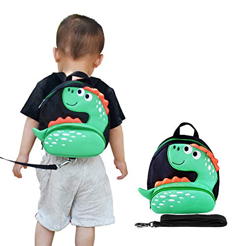 Toddler Backpack with Anti-Lost Harness Small Dinosaur Backpack Safety Leash for Boys and Girls Age 1-2 Years Old