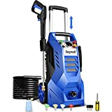 Suyncll Electric Pressure Washer 3800PSI, 2.6GPM Power Washer Cleaner with 4 Nozzles, Detergent Tank, Best for Cars/Fences/Patios