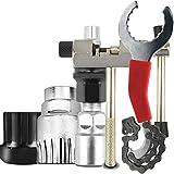 Katyma Juego de herramientas para reparación de bicicletas, 5 piezas, cortacadenas y soporte, extractor de bielas