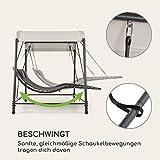 Doppel-Schaukel-Liege Gartenliege Stahlrahmen Sonnendach - 6