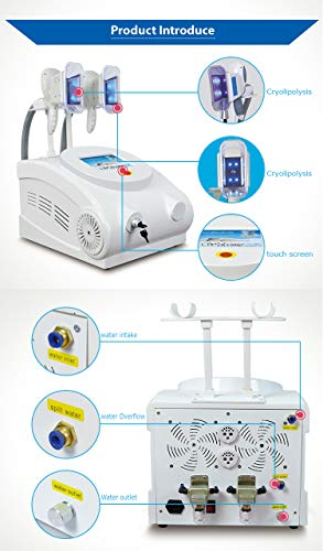 Cryolipolysis Fat Freeze Slimming Machine,Fat Freezer Body Sculpting Device + Cryolipolysis Handle for arm and Leg + Vacuum +Vibration +Blue Light 3