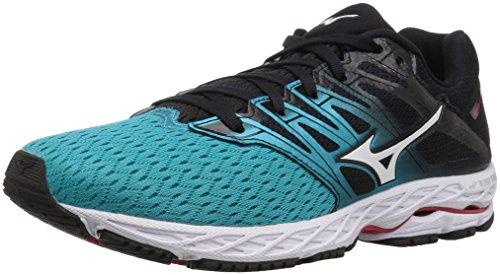 Mizuno Women's Wave Shadow 2 Running Shoe, Black/Trade Winds, 8 B US