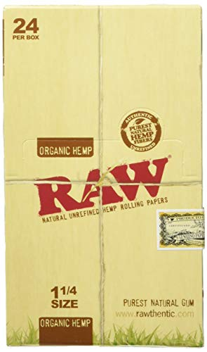 RAW Organic 1 1/4 Rolling Papers 24ct, BOX by RAW Organic Rolling Papers