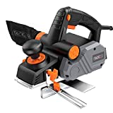Planer, TACKLIFE Power Hand Planer, 7.5-Amp, 14500Rpm, 3-1/4-Inch, with 1/96' to 1/8' Adjustable Cut Depth, 2-Side Blow Chips, Parallel Fence Bracket, Ideal Wood Planer for Home DIY - EPN02A
