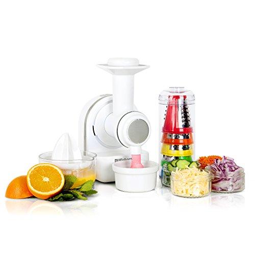 Duronic FP301 3-in-1 kompakte elektrische Küchenmaschine/Küchenhelfer/Zerkleinerer/Zitruspresse/Eismaschine/Smoothie Mixer/Dessert Maker