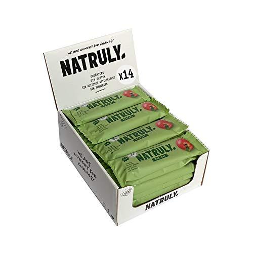 Energy Riegel Natural Athlete, 100% Natürlich und Bio, Glutenfrei, Vegan, Ohne Zuckerzusatz, Pack 12x40g (Apfel)