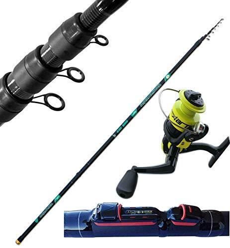 Generico Canna Teleregolabile Regolabile Carbonio Metri 8 Pesca Trota Fiume + Mulinello
