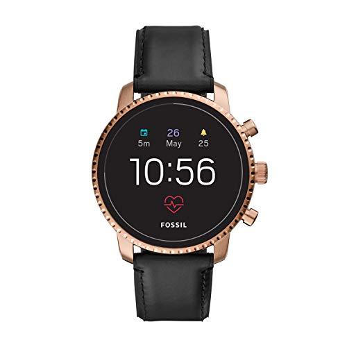 Fossil Smartwatch Touchscreen Connected Uomo con Cinturino in Acciaio Inossidabile FTW4017, Nero