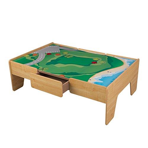 KidKraft Wooden Play Table Train Table,Natural