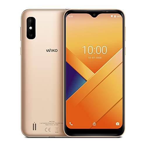Wiko Y81 Smartphone débloqué 4G (Ecran immersif 6.2' - 32 Go Extensible à 256 Go - Batterie 4000 mAh 2 Jours d'utilisation - Double Nano-SIM) Gold