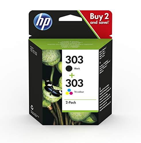 HP 303 Combo Pack 3YM92AE Cartucce Originali Nero e Tricromia per Stampanti HP a Getto di...